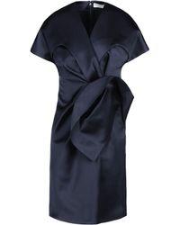 Balenciaga Blue Bow Dress - Lyst