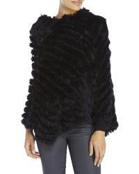 Surell - Real Rabbit Fur Poncho - Lyst