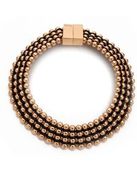 Bex Rox | Frida Collar Necklace Rose Goldblack | Lyst