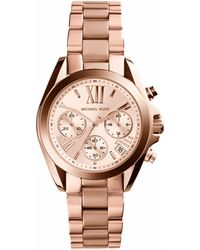 Michael Kors Bradshaw Rose Gold-Tone Watch - Lyst