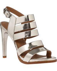 Atelje71 Soire Sandal Mirror Silver Leather - Lyst