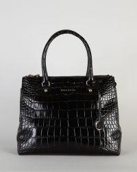 Karen Millen Black Satchel Leather - Lyst