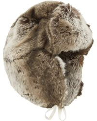 Imposter - Brown Faux Fur Trapper Hat - Lyst