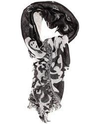 Armani Jeans Scarf 100x100 Flower Jaquard with Logo - Lyst