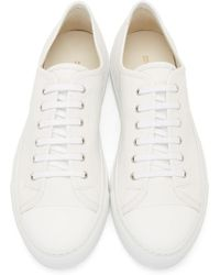 Common Projects White Tournament Cap Toe Sneakers - Lyst