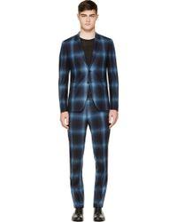 Paul Smith Navy Plaid Kensington Suit - Lyst