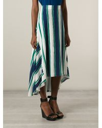 Chloé Striped Asymmetric Skirt - Lyst