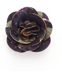 Hook + Albert - Cork Flower Lapel Pin - Lyst