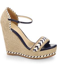Gucci Tiffany Espadrille Wedge Sandals - Lyst