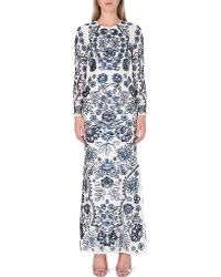 Needle & Thread Embellished Floral Maxi Dress - Lyst