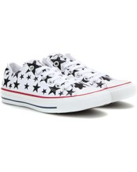 Converse Chuck Taylor Ox Printed Sneakers white - Lyst