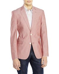 Tommy Hilfiger Red Cotton Sport Coat - Lyst