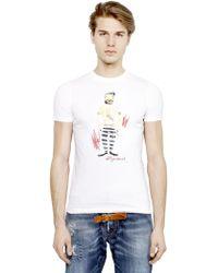 DSquared² Sailor Printed Cotton T-Shirt - Lyst