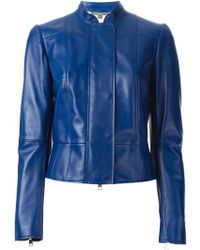 Alexander McQueen Blue Fitted Jacket - Lyst