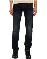 Armani Jeans Slim Fit Mid Dark Wash W Leather Detail - Lyst