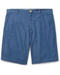 Steven Alan - Cotton-Chambray Shorts - Lyst