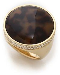 Michael Kors - Domed Tortoise Ring Goldtortoise - Lyst