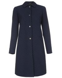 Paul Smith Textured Navy And Black Epsom Coat - Lyst