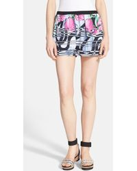 Clover Canyon - 'Dancing Tulips' Woven Shorts - Lyst
