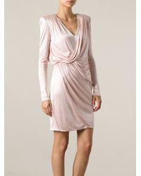 Versace Side Draped Dress - Lyst
