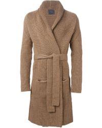 Laneus - Knit Robe Coat - Lyst