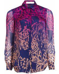 Matthew Williamson Wing Lace Silk Shirt - Lyst