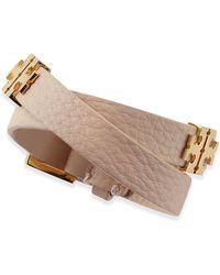 Tory Burch Mini T Double-wrap Bracelet - Lyst