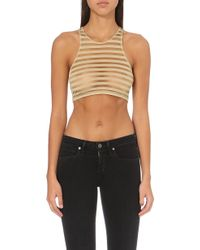 This Is A Love Song - Congo Sheer-stripe Top - Lyst