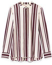 Tory Burch Stretch Silk Button-Down Shirt - Lyst