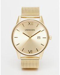 Unknown - Dandy Mesh Strap Watch - Lyst