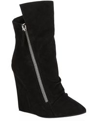 Giuseppe Zanotti Suede Zip Wedge Boots - Lyst