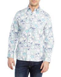 Garbstore Tropical Print Sport Shirt - Lyst