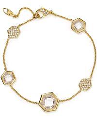 Nadri Honeycomb Tennis Bracelet - Lyst