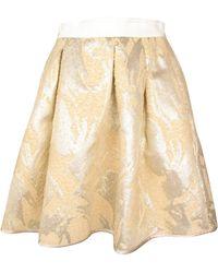 By Malene Birger Pre-order Okih Gold Jacquard Skirt - Lyst