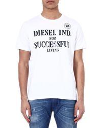 Diesel Tdif Branded T-Shirt - For Men - Lyst