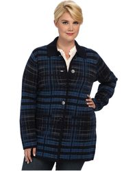 Pendleton Plus Size Sketchbook Sweater Coat - Lyst