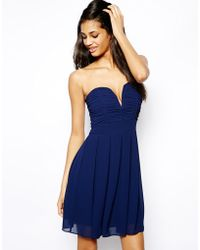 TFNC Dress With Plunge Bustier - Lyst