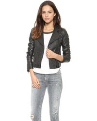 Madewell Perfect Leather Moto Jacket  True Black - Lyst