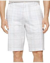 Calvin Klein Slub Multi-Plaid Shorts white - Lyst