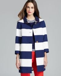Kate Spade Franny Coat with Back Bow Belt - Lyst