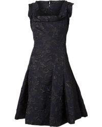 Lanvin Blue Flared Dress - Lyst