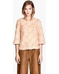 H&M Blouse With Flowers - Lyst