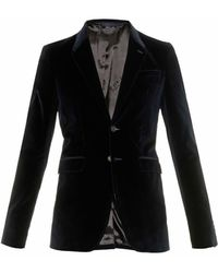 Burberry Prorsum Single-Breasted Velvet Blazer - Lyst