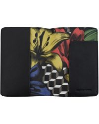 Pierre Hardy Black Primary Perspective Lilies Passport Holder - Lyst