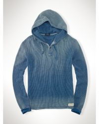 Ralph Lauren Indigo-Dyed Waffle Thermal - Lyst