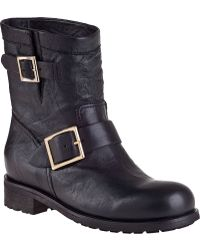 Jimmy Choo Youth Ankle Boot Black Leather - Lyst