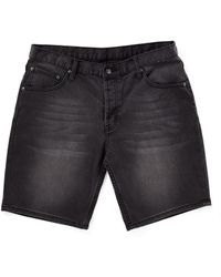 Cheap Monday Line Shorts City Black In Regular Fit - Lyst