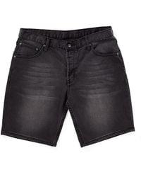 Cheap Monday Line Shorts City Black In Regular Fit black - Lyst