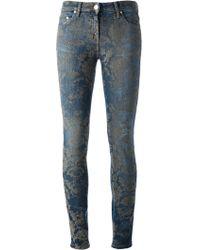 Roberto Cavalli Printed Skinny Jean - Lyst