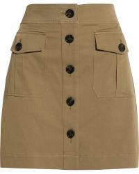 Burberry Brit - Stretch-cotton Twill Mini Skirt - Lyst